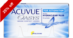 Acuvue Oasys for Astigmatism 6 lenses per box