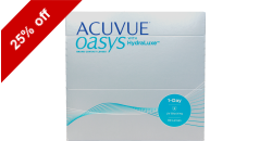 Acuvue Oasys 1-Day 90 lenses per box