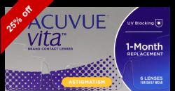 Acuvue Vita for Astigmatism 6 lenses per box