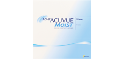 1-Day Acuvue Moist 90 lenses per box