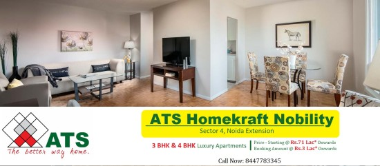 Exclusive 3 4 Bhk Apartments Ats Homekraft Nobility Sector 4 Noida Extension