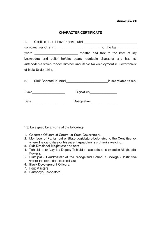 Character certificate format pdf for government job gallery character certificate format for student pdf image collections canara bank clerk aspirants 2016 posting here the yelopaper Gallery