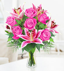 Rose & Lily Hand Tied