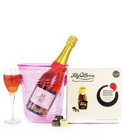Pink Bubbly and Chocs