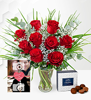 Romantic Roses with Card