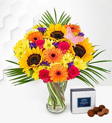 British Sunflower Bouquet