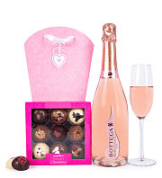 Pink Prosecco and Luxury Chocolate