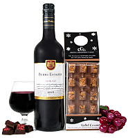 Luxury Shiraz and Caramel Chocolate