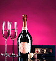 Laurent Perrier Rose with Luxury Chocolates