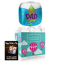 Fathers Day Balloon and Card
