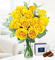 Yellow Rose Charm