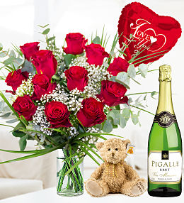 Classic Red Rose Sparkling Gift