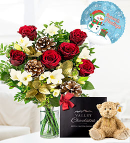 Festive Rose & Freesia Bundle