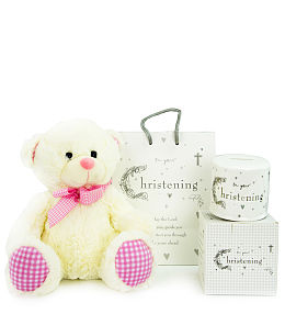 Baby Girl Christening Money Box
