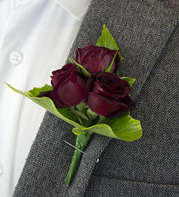 Burgundy Rose Boutonniere