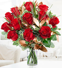 Valentines Day Flowers At Prestige Flowers 12 Red Roses
