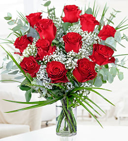 Valentines 12 Red Roses