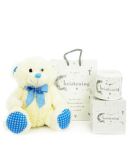 Baby Boy Christening Money Box