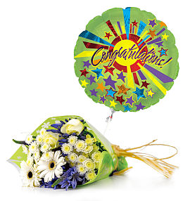 Congratulations and balloon