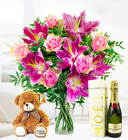 Flowers and Champagne for Mum