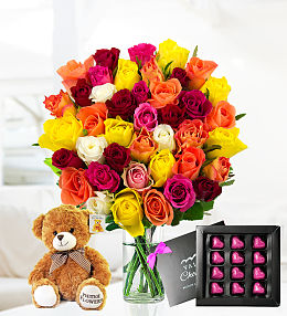Rose, Choc and Bear Gift