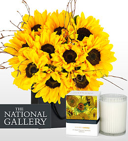 Van Gogh Bouquet and Candle