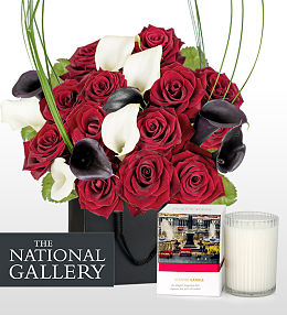 London Bouquet and Candle