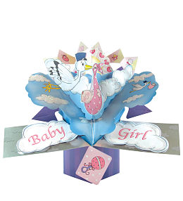 Baby Girl Pop Card