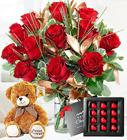 Luxury 12 Roses Gift Bundle