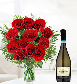 Valentines Prosecco and Roses