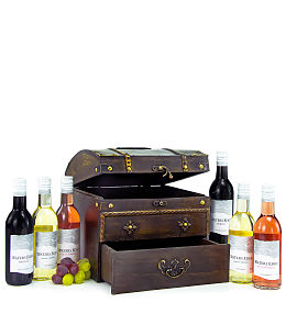 Wooden Chest with Wine