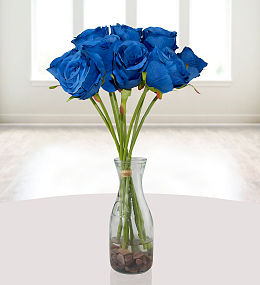 Silk flowers free chocolates prestige flowers silk blue roses mightylinksfo