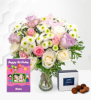 Rose Medley with Birthday Card