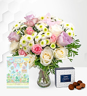 Rose Medley with Get Well Card