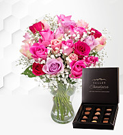 Nairobi Roses with Chocolates