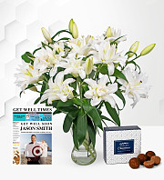 Double Lilies with Get Well Card