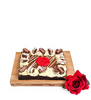 Valentine's Brownie Slab