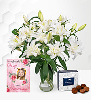 Double Lilies with Anniversary Card