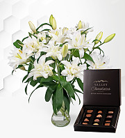 Double-Flowering Lilies with Chocs