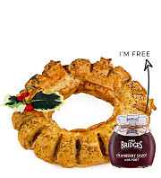 Christmas Sausage Wreath