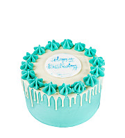 Blue Birthday Cake