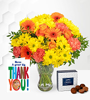 Thank You Bouquet with Card