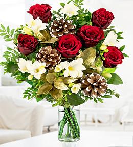 Festive Rose & Freesia