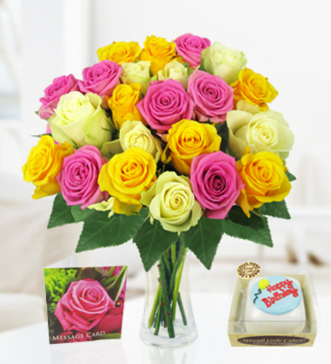 Birthday Cake Flowers Images The Best Cake 2017