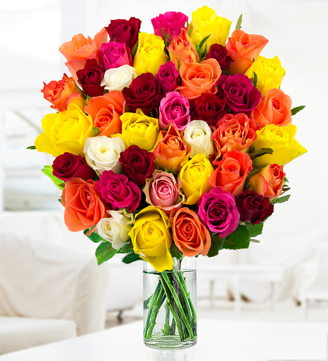 40 Roses Deals 1999 FREE Chocolates Prestige Flowers