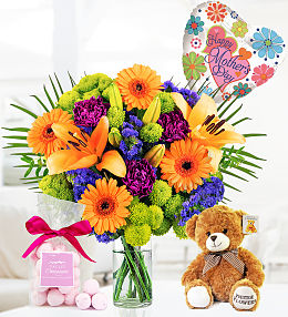 Flowers, Bear and BonBons