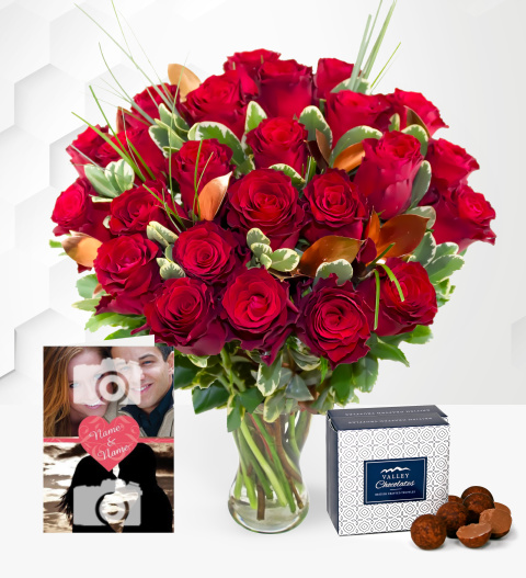 Superior Roses with Card