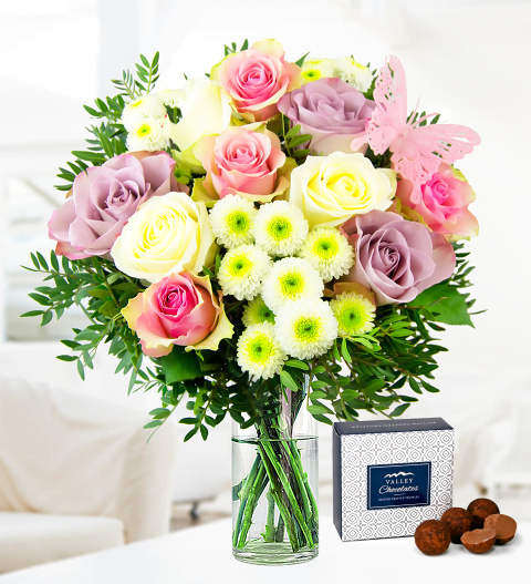 Summer Roses FREE DELIVERY - Free Chocs