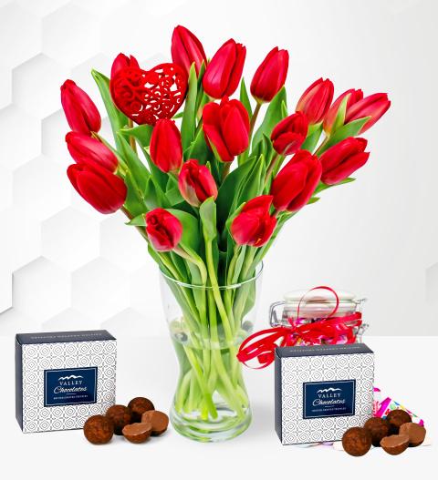Valentine's Tulips Treats
