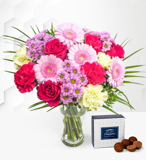 Glorious - Free Chocs - Flower Delivery - Birthday Flowers - Next Day Flower Delivery - Pink Bouquet